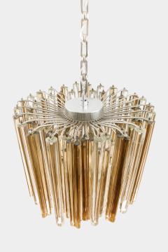 Venini Original Venini Tiered Amber Clear Glass Chandelier from Trilobo Series - 763332