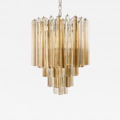 Venini Original Venini Tiered Amber Clear Glass Chandelier from Trilobo Series - 777429