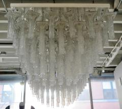 Venini Oversized pair chandeliers by Venini with ca 150 glass pieces - 889409