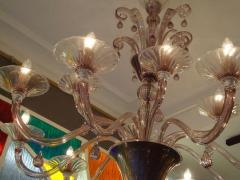 Venini Pair of 1970s chandeliers in amethyst blown glass by Venini - 909365