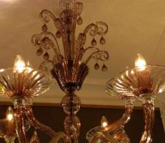 Venini Pair of 1970s chandeliers in amethyst blown glass by Venini - 909367