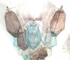 Venini Pair of Mid Century Modern geometric Murano glass sconces Venini Italy 1970s - 2123690