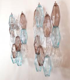 Venini Pair of Mid Century Modern geometric Murano glass sconces Venini Italy 1970s - 2123691