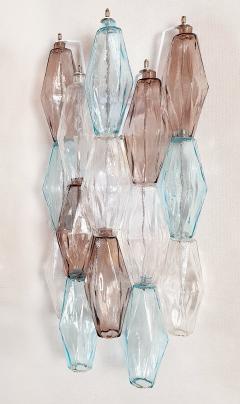 Venini Pair of Mid Century Modern geometric Murano glass sconces Venini Italy 1970s - 2123693