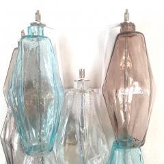 Venini Pair of Mid Century Modern geometric Murano glass sconces Venini Italy 1970s - 2123695