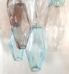 Venini Pair of Mid Century Modern geometric Murano glass sconces Venini Italy 1970s - 2123696