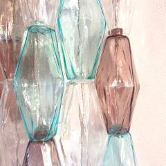 Venini Pair of Mid Century Modern geometric Murano glass sconces Venini Italy 1970s - 2123698