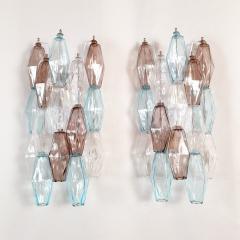 Venini Pair of Mid Century Modern geometric Murano glass sconces Venini Italy 1970s - 2123699