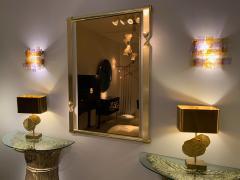 Venini Pair of Murano Glass Sconces by Venini Italy 1970s - 1164322