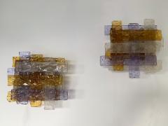 Venini Pair of Murano Glass Sconces by Venini Italy 1970s - 1164329
