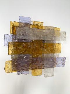 Venini Pair of Murano Glass Sconces by Venini Italy 1970s - 1164331