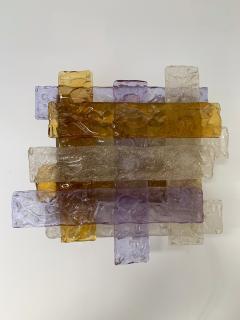 Venini Pair of Murano Glass Sconces by Venini Italy 1970s - 1164332