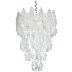 Venini Pair of Poliedri Hanging Fixture by Venini - 1840897