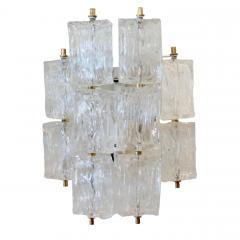 Venini Pair of Venini Glass Wall Sconces - 1066939