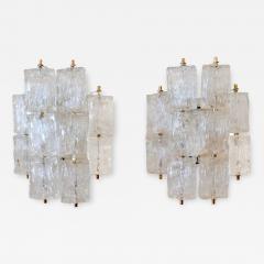Venini Pair of Venini Glass Wall Sconces - 1072986