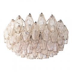 Venini Rose Venini Poliedri Murano Glass Chandelier - 1573346