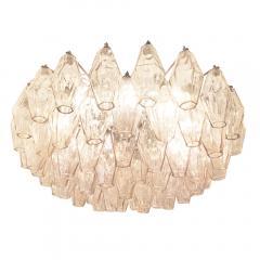 Venini Rose Venini Poliedri Murano Glass Chandelier - 1573347