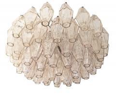 Venini Rose Venini Poliedri Murano Glass Chandelier - 1573348