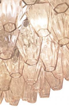 Venini Rose Venini Poliedri Murano Glass Chandelier - 1573349
