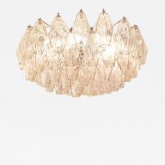 Venini Rose Venini Poliedri Murano Glass Chandelier - 1573829