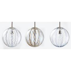 Venini Three Venini Blown Glass Lanterns 1950s - 1488787