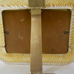 Venini Venini 1980s Italian Vintage Amber Gold Murano Glass and Brass Photo Frame - 2076366
