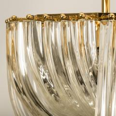 Venini Venini Light Fixture Curved Crystal Glass and Gilt Brass Italy - 1039258