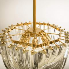 Venini Venini Light Fixture Curved Crystal Glass and Gilt Brass Italy - 1039259