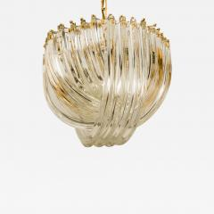 Venini Venini Light Fixture Curved Crystal Glass and Gilt Brass Italy - 1039909