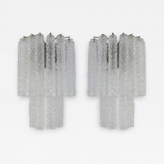 Venini Venini Murano Glass Pair of 1960s Italian Sconces - 1973293
