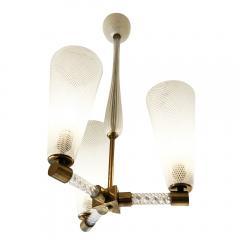Venini Venini Reticello Murano Glass Pendant Italy 1940s - 1195562