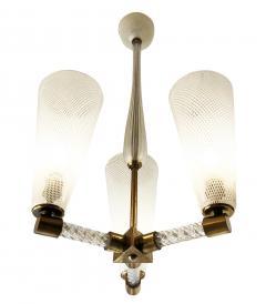 Venini Venini Reticello Murano Glass Pendant Italy 1940s - 1195563