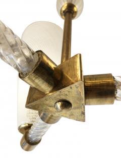 Venini Venini Reticello Murano Glass Pendant Italy 1940s - 1195578