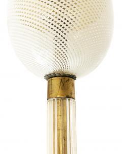 Venini Venini Reticello Murano Glass Pendant Italy 1940s - 1195579