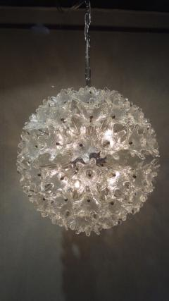 Venini Venini attribution Mid Century Murano Glass Flower Ball Sputnik Chandelier - 239097