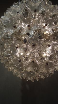 Venini Venini attribution Mid Century Murano Glass Flower Ball Sputnik Chandelier - 239099