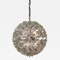 Venini Venini attribution Mid Century Murano Glass Flower Ball Sputnik Chandelier - 239899