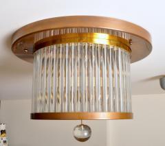 Venini Vintage Italian Brass and Glass Flushmount - 1598913