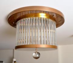 Venini Vintage Italian Brass and Glass Flushmount - 1598914