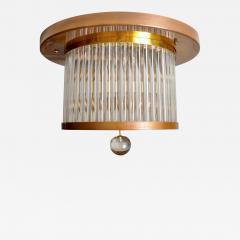 Venini Vintage Italian Brass and Glass Flushmount - 1601969