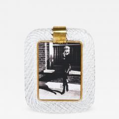 Venini Vintage Murano Glass Photo Frame Attributed to Venini - 633200