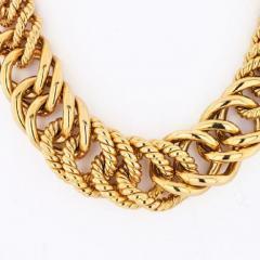 Verdura VERDURA 18K YELLOW GOLD DOUBLE CRESCENT CHAIN LINK NECKLACE - 1858410