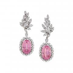 Verdura Verdura Late 20th Century Diamond Kunzite and Platinum Earrings - 267640