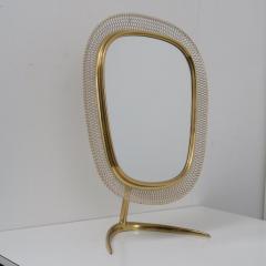 Vereinigte Werkst tten F r Kunst Im Handwerk Brass Vanity Mirror Germany 1950 - 1210039