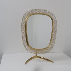 Vereinigte Werkst tten F r Kunst Im Handwerk Brass Vanity Mirror Germany 1950 - 1210042