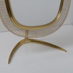 Vereinigte Werkst tten F r Kunst Im Handwerk Brass Vanity Mirror Germany 1950 - 1210043