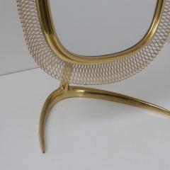 Vereinigte Werkst tten F r Kunst Im Handwerk Brass Vanity Mirror Germany 1950 - 1210044