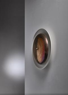 Vereinigte Werkst tten F r Kunst Im Handwerk Brass and metal wall or ceiling lamp 1950s - 1841746