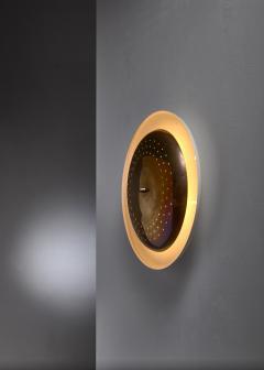 Vereinigte Werkst tten F r Kunst Im Handwerk Brass and metal wall or ceiling lamp 1950s - 1841747