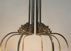 Verrerie d Art Degu French Art Deco Chandelier Signed by Degu  - 1780240